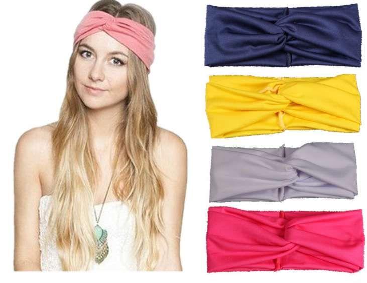 1266f3cf74a 2019 Twist Turban Headbands For Women Elastic Sport Hair Bands Colorful Headbands  Yoga Headbands Headwear Knotted Headwrap Girls Hair Accessories From ...