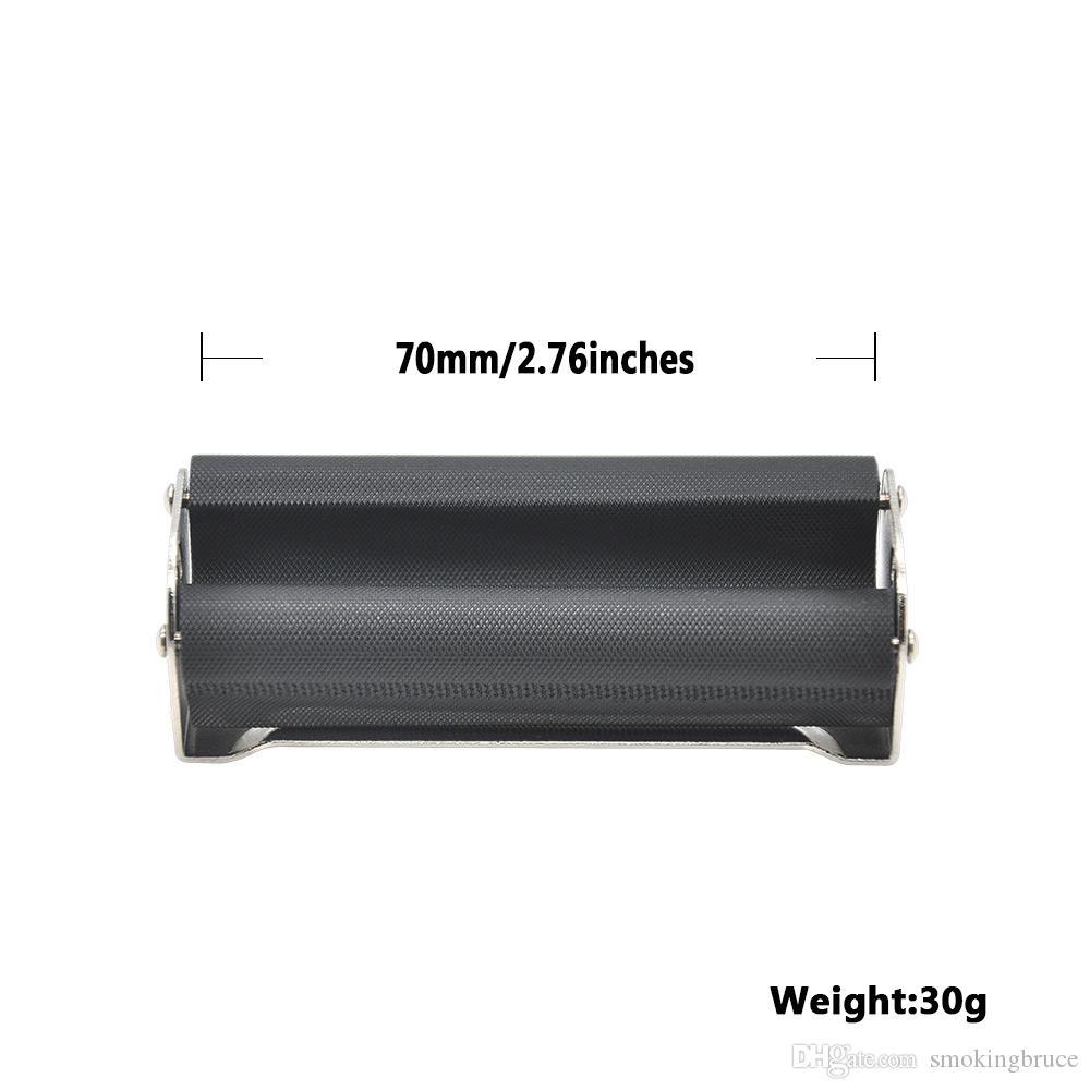 Cigarrillo manual de metal Máquina de laminación de tabaco Caja de inyector Fabricante de rodillos Rodillo de papel Accesorio para fumar Portátil Fácil de usar