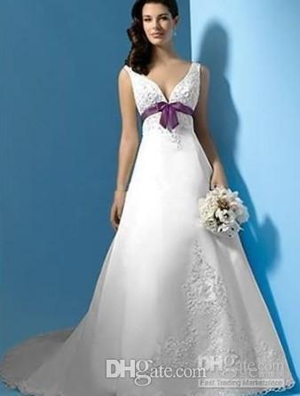 de novia blanco con morano
