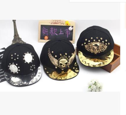 6759cb62 Cool Punk Rock Metal Skull Head Hip Hop Snapback Caps Boys Girls Baby Cap  Branded Baseball Cap Flat Hat 50 To 54 Cm Make Your Own Hat Basecaps From  Toplogo, ...
