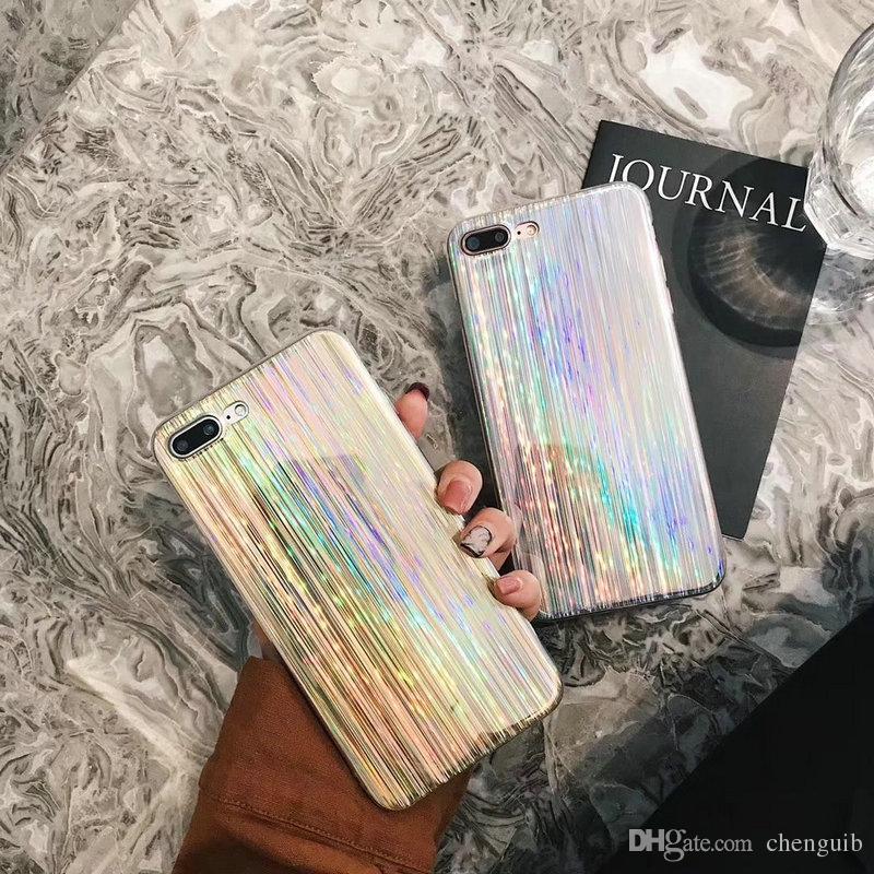 공장 아울렛 새로운 패션 다채로운 레이저 전화 케이스 아이폰 x 8 8plus TPU 소프트 전화 셸 iphone6 6S 7 7plus