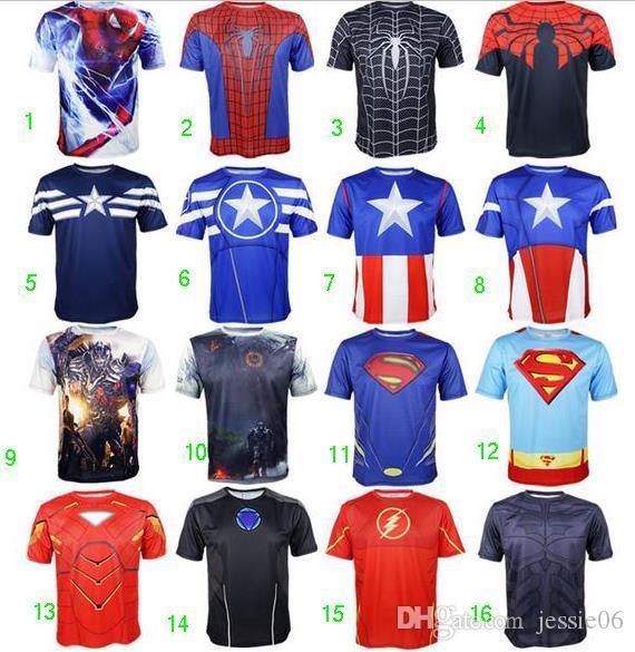 Superhero Avengers Cycling Jerseys Tops Cos Superman Batman Hulk
