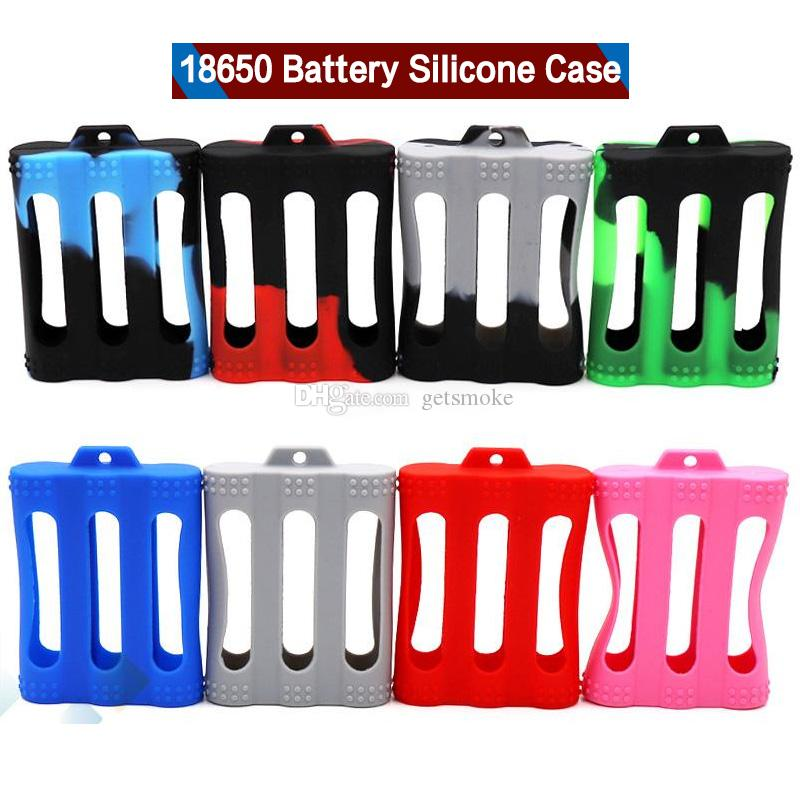 18650 Batería Funda de silicona cubierta protectora de goma Protector de piel para 18650 Batería E Cigarrillo colorido DHL libre