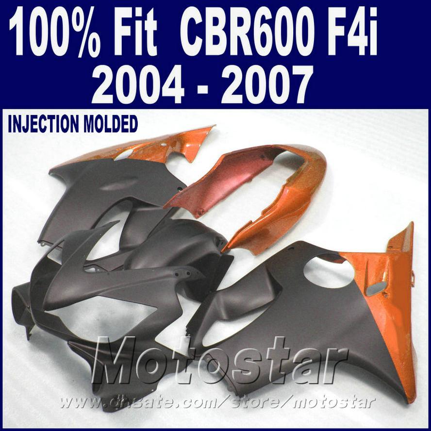HONDA CBR 600 F4i kaporta 2004 2005 2006 2007 kaporta kitleri plastik için portakal enjeksiyon kalıplama 04 05 06 07 cbr600 f4i EQVG