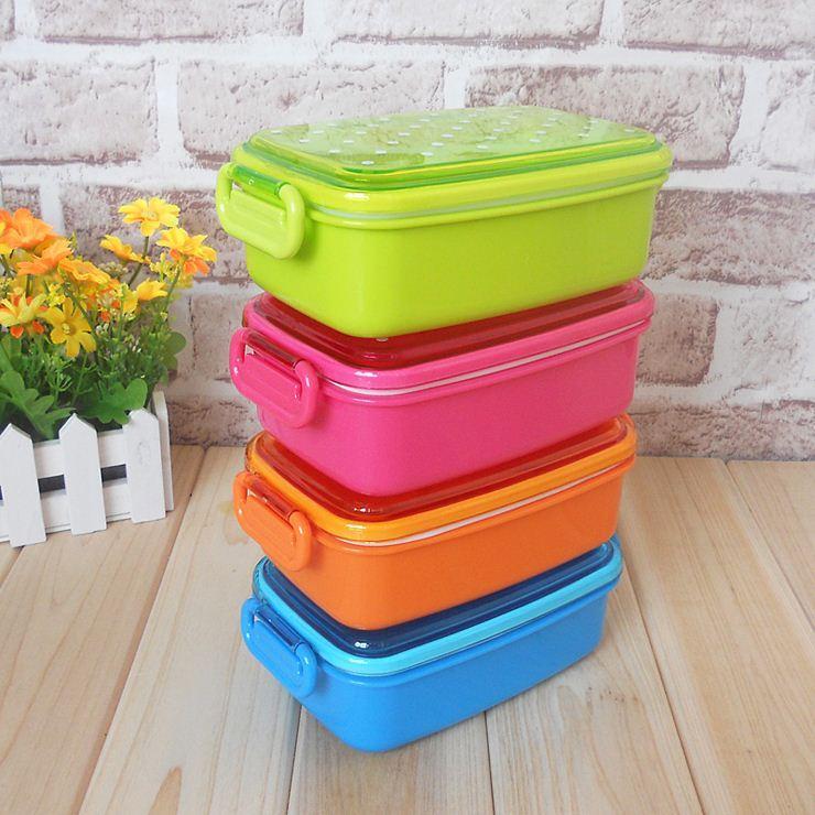 4-colors-polka-dot-small-japanese-food-storage.jpg & 2018 Polka Dot Small Japanese Food Storage Box For Kids Sushi Food ...