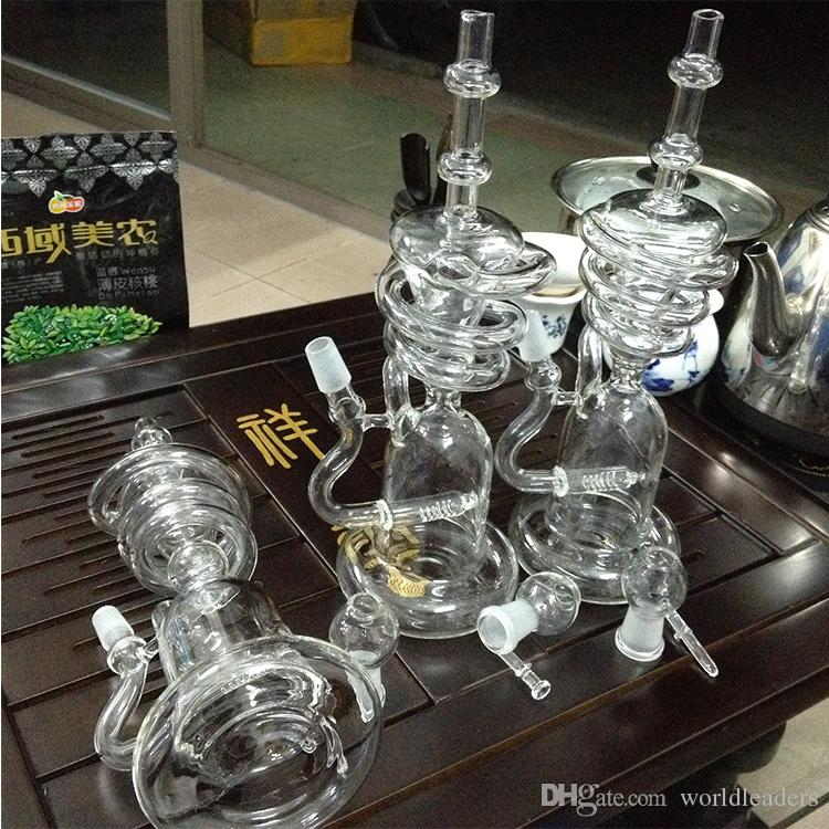 Glass Water Smoking Pipe Percolator Pipes Honeycomb Disk Bong With Arm Tree Perc Vase for nail/pen