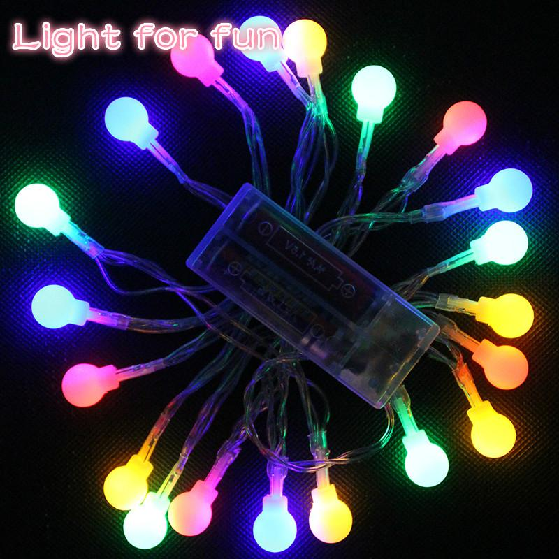 Cheap Small Round Ball String Christmas Lights Outdoor Multi Color ...