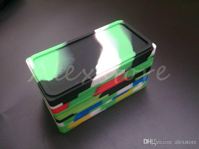 Small Waxmate Containers Silicone Rubber Silicon Storage Square Shape Wax Jars Dab Tool Dabber Oil Holder for Vaporizer Vape Dry Herb
