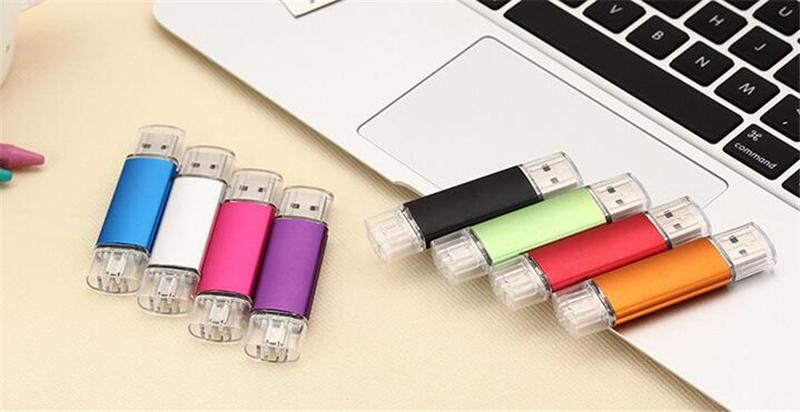25pcs DHL 100% Real Capacity 2GB 4GB 8GB 16GB 32GB 64GB 128GB 256GB OTG USB Flash Drive Memory Stick with OPP Packaging