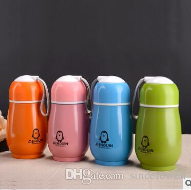 300ml Children's cartoon penguin stainless steel vacuum cup cup vacuum cup cartoon cups insulation around 2 hours