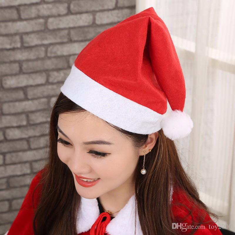16 Style Red Santa Claus Hat Ultra Soft Plush Christmas Cosplay Hats Christmas Decoration Adults Christmas Party Hats