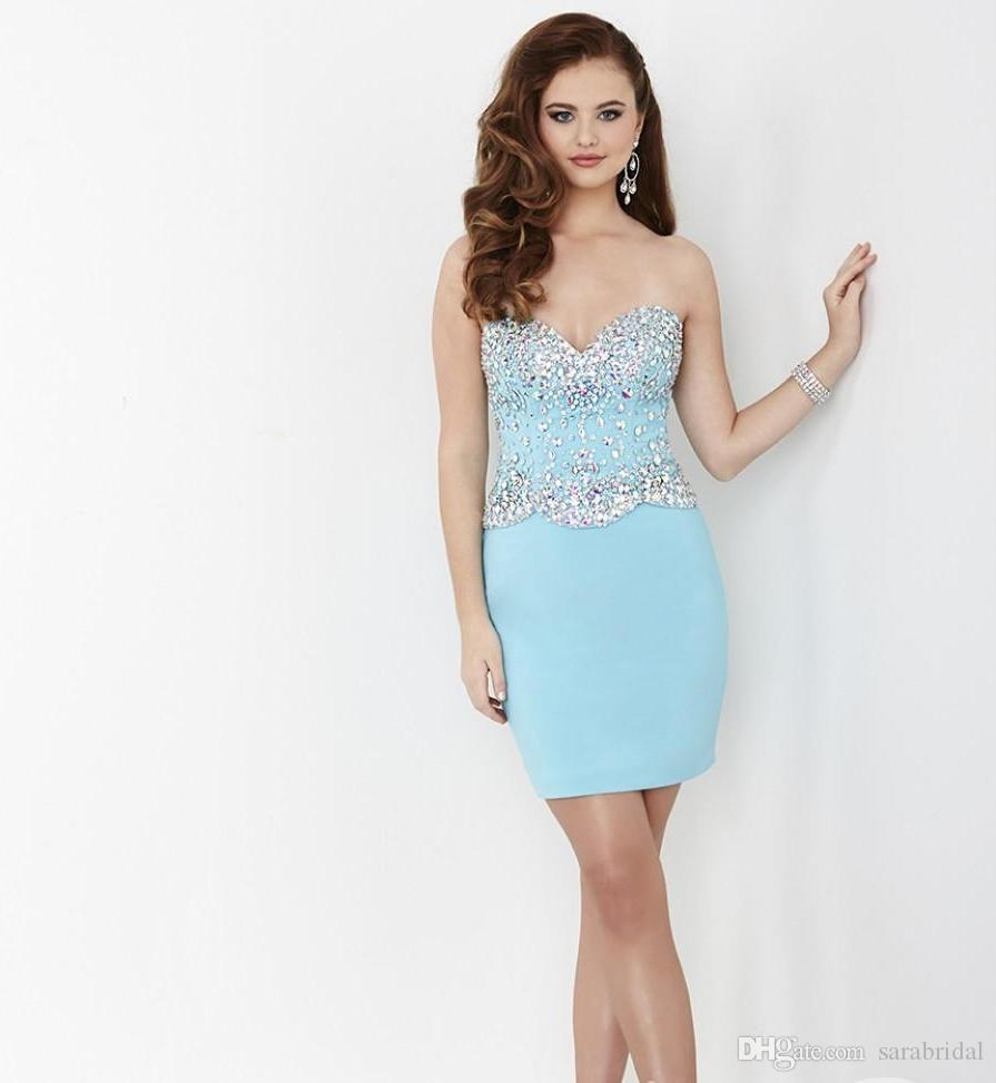 Sexy Fitted Backless Short Mini Sheath Cocktail Dresses Lovely Sweetheart brief paragraph Prom Dresses Formal Party Gowns Trendy New Style
