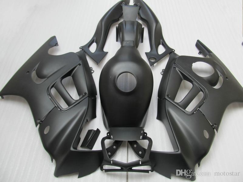 Wszystkie Matowe Płaskie Czarne Zestawy For Honda CBR 600 F3 Wróżki 1997 1998 CBR600 F3 97 98 Zestaw do błonnika