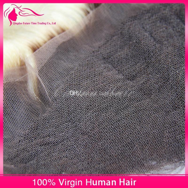 # 1B / 613 Two Tone Brasilianische Haarspitze Frontal Verschluss Körperwelle Menschliches Haar Stücke Ombre 13X4 Ohr zu Ohr Spitze Frontal Gebleichte Knoten