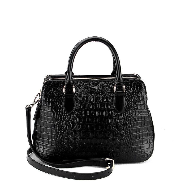 61686b5c04 B053H Luxury Brand Alligator Genuine Leather Women Handbags Elegant ...