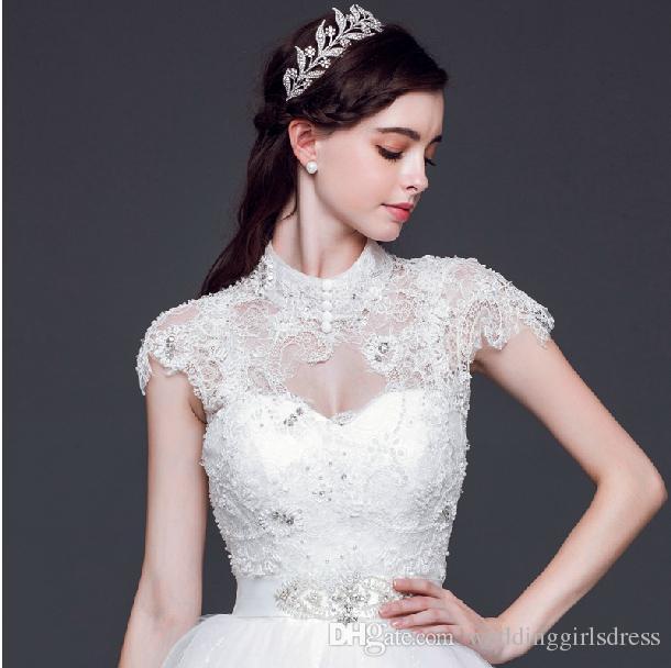 La alta calidad de la corona de la boda tiaras de novia baratos Cabello Accesorios brillantes