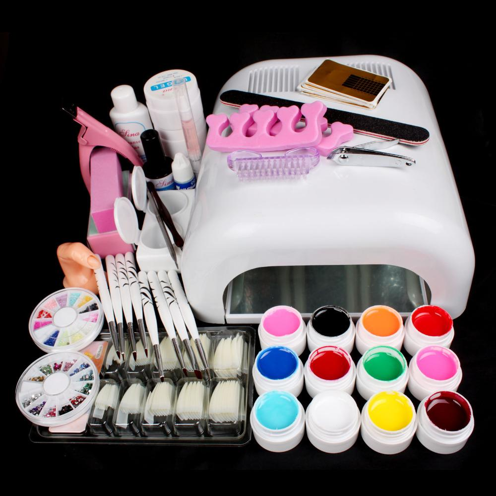 Tool Kit Art New Pro 36w Uv Gel White Lamp &Amp; Uv Gel Nail Art ...