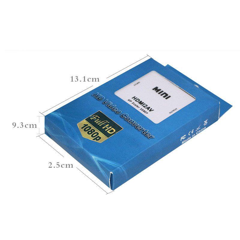 Nuevo USB Mini HDMI a AV RCA Señal de video CVBS Adaptador Convertidor 720P / 1080P UFS OTH095