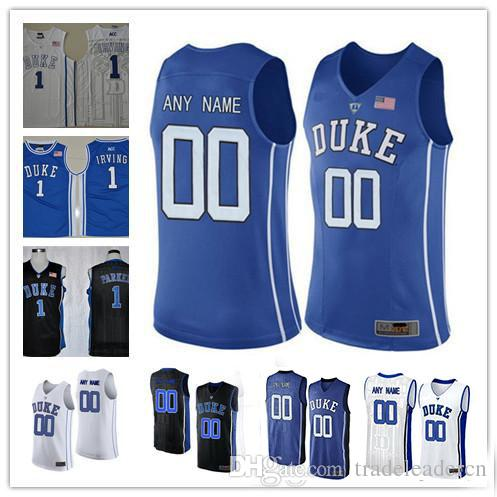 5ad8579aef70 2019 Custom Mens Duke Blue Devils College Basketball Black Royal Blue White  Personalized Stitched Any Name Number  1  4  14  15  32 Jerseys S 3XL From  ...