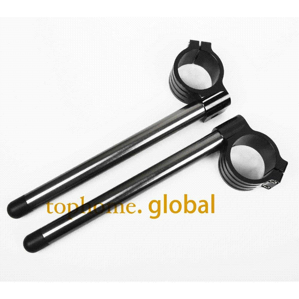 Black Color CNC 35mm Fork Clip Ons Handle Bars For YAMAHA RZ350 1984-1986  1985 1985 1 pair M52238