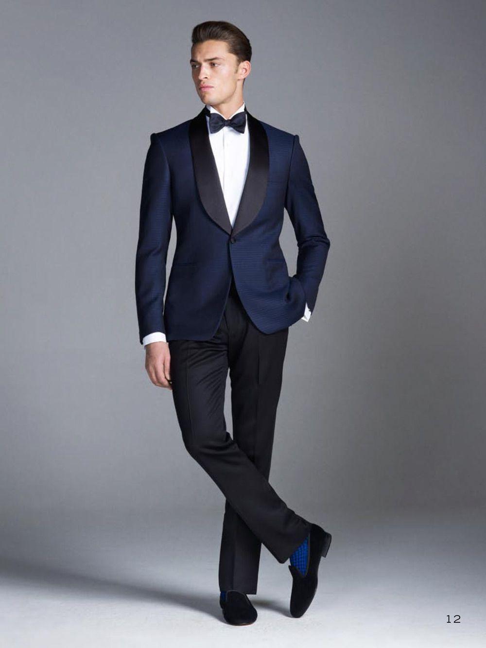 Compre 2015 Trajes De Boda Azul Marino Padrinos De Boda Mejor Para Hombre  De La Boda Trajes Formales Chal Solapa Por Encargo Smokings Del Novio  Chaqueta + ... 8fb48df4e09