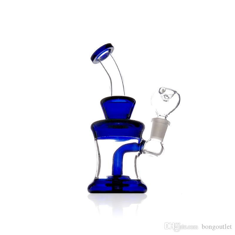 Colore nero! colore! vendita caldo di tubi di acqua in vetro curvato nect 7,1 pollici piattaforma petrolifera bong di vetro della miscela trasporto libero di colore