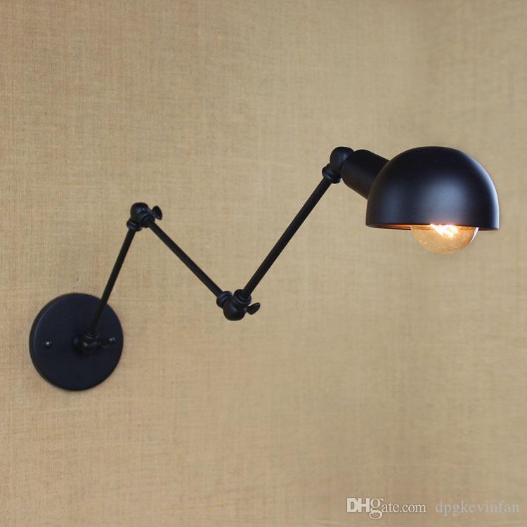 40W 110-240V personalità Lungo braccio regolabile Angolo Bar Retro Soggiorno Lampade Illuminazione decorativa riparo della parete di
