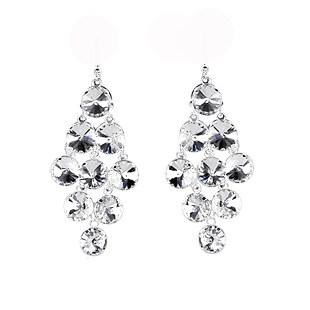 Hot Sale CZ Diamond Crystal Sterling Silver Earrings For Women Bridal Accessories Pageant Jewelry Stud Earring Eardrop Cheap Exquisite