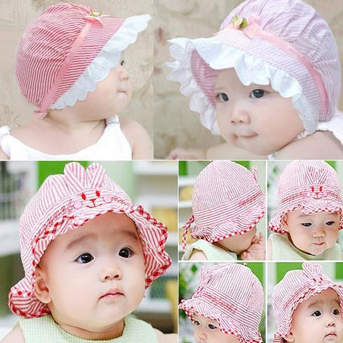 ca6c1e00d best Flowers bow Baby girls hat pure cotton princess sun hat newborn baby  hat children caps