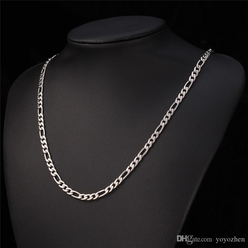 New Trendy Figaro Chain Stainless Steel Necklace Sets 18K Real Gold Plated Chunky Necklace/Bracelet Men Jewelry YS226