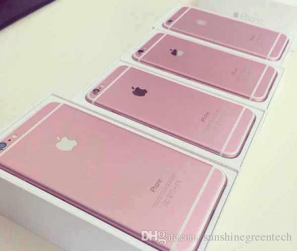 100% Original Remis à neuf Apple iPhone 6S plus Téléphones Cellulaires 16G 64G 128G IOS Or Rose 4.7