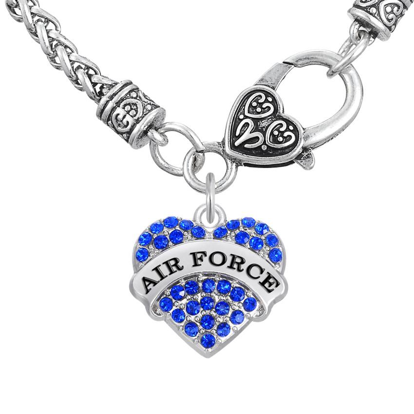 Wholesale word air force pendant necklaces fitness thick heart wholesale word air force pendant necklaces fitness thick heart necklaces crystal heart lobster clasp women jewelry for engagement gift owl pendant necklace aloadofball Choice Image