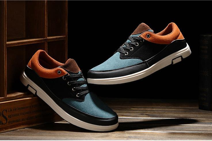 Casual Mocassins Mode Homme Nouveau Chaussures De Mélangées Espadrilles Course Pour Sport Chaussure Toile Hommes Style Couleurs En DWH9IeYE2