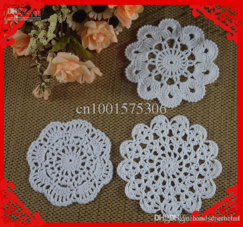 Online Cheap Wholesale Round Small Crochet Pattern Doily Hand Made