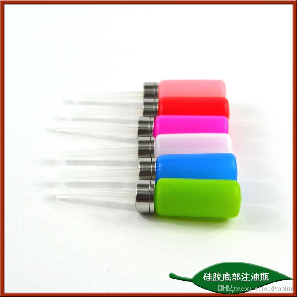 E Cig oiling 8ML silicone bottom filling e juice squeeze bottle for bottom refilling electric cigarette watt box