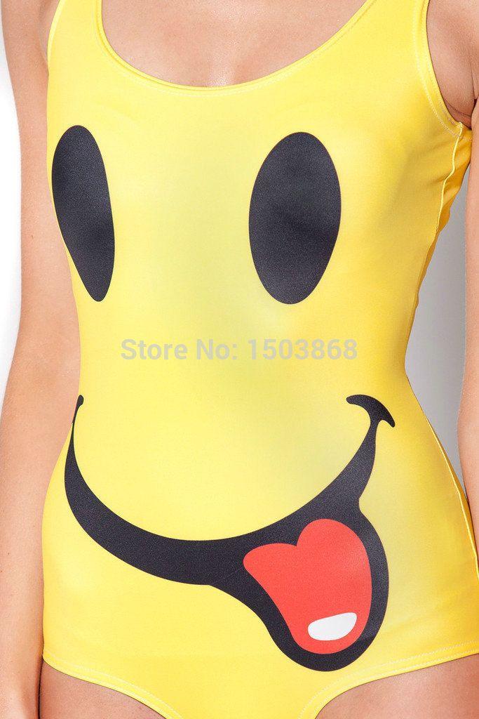 219d9cde3 2019 2015 Fashion Women S Sexy Swimsuit Emoji One Piece Bathing Suits  Kawaii Emoji Yellow Swimwear Women Brand 3D Swimwear FG1510 From Shenfa02