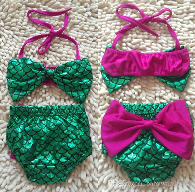 a640f2920b 2019 Toddler Kids Swimwear Baby Girl Mermaid Swimsuit Girls Bikini Set Summer  Children Swimwear Bathing Suit Baby Swimming Costume Beachwear From ...