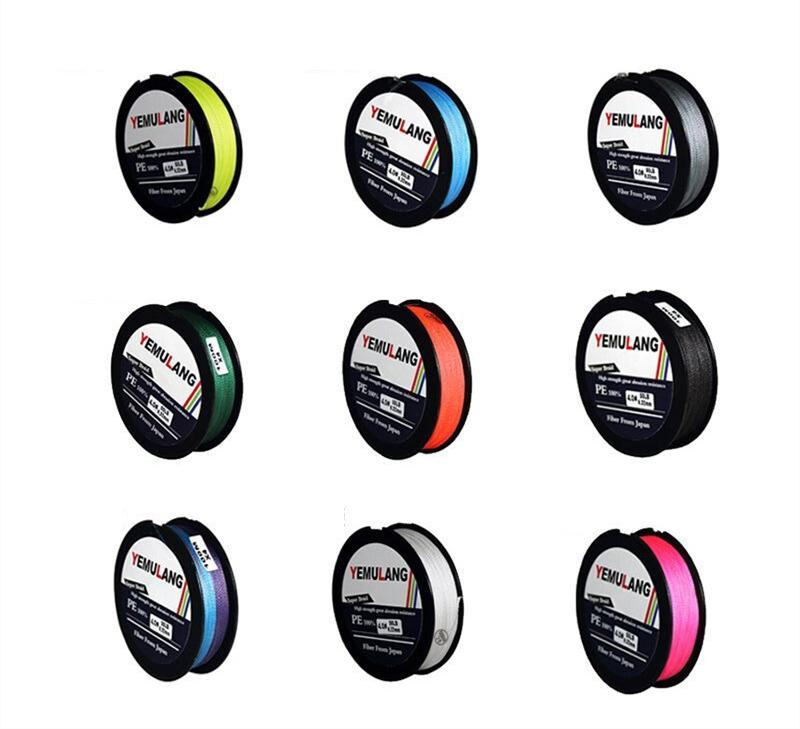 150 çaplı PE Fly Olta Marka Süper Serisi 4 Tellerinin Örgülü Hatları Anti-ısırık hatları 15lb ~ 80lb Mesaj renk benim için