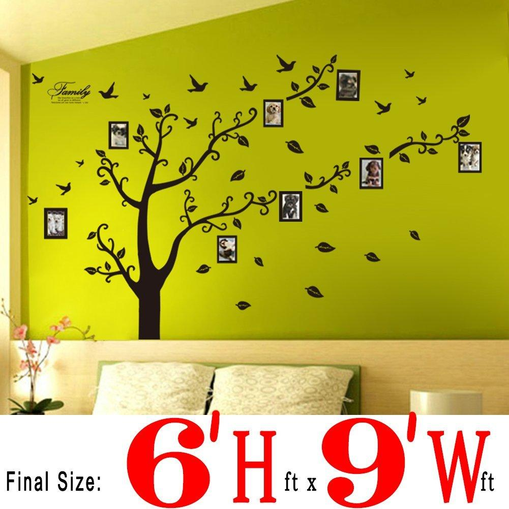 New Wall Stickers Wall Decals Trees Photo Frame Butterfly Birds - Yellow bird wall decals