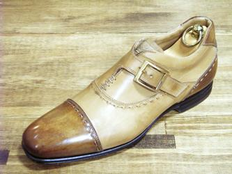 ae91b0d82e918 Acheter Hommes Chaussures Habillées Chaussures Moine Chaussures Sur Mesure  Faites À La Main Chaussures Pour Hommes Véritable Cuir De Veau Boucle  Simple ...