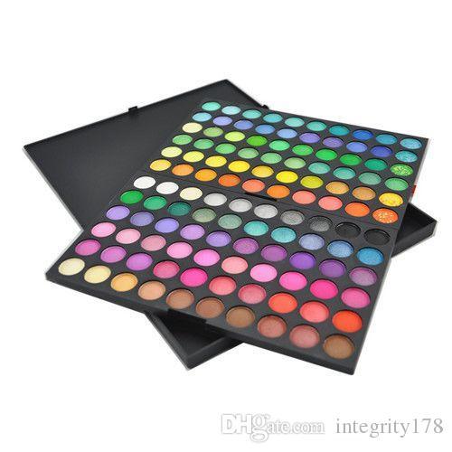 Оптовая продажа 24 компл. /лот профессиональный 120 цветов тени для век Тени для век румяна палитра порошок макияж косметический комплект Моды EMS/DHL свободный корабль