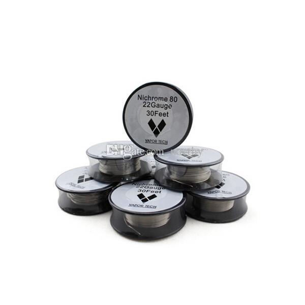 Nichrome 80 Heizdraht Widerstandsdrähte Vapor Tech 30 Fuß 22 24 26 28 30 32 Gauge für DIY RDA Vaporizer Atomizer Coils
