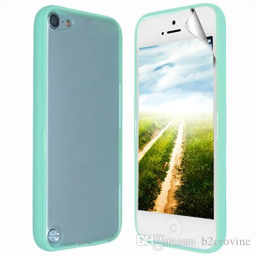 S5Q Ultra TPU parachoques claro caso Slim mate nuevo caso cubierta Protector para Ipod Touch 5 AAAELS