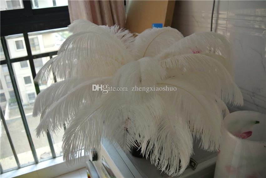 Wholesale 12-14inch30-35cm White ostrich feathers for Wedding centerpiece Table centerpieces Home party Decor
