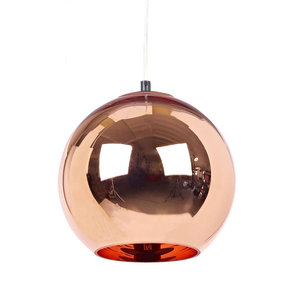 Modern Tom Dixon Copper Glass Ball Pendant Lamp E27 Led Para Quartos