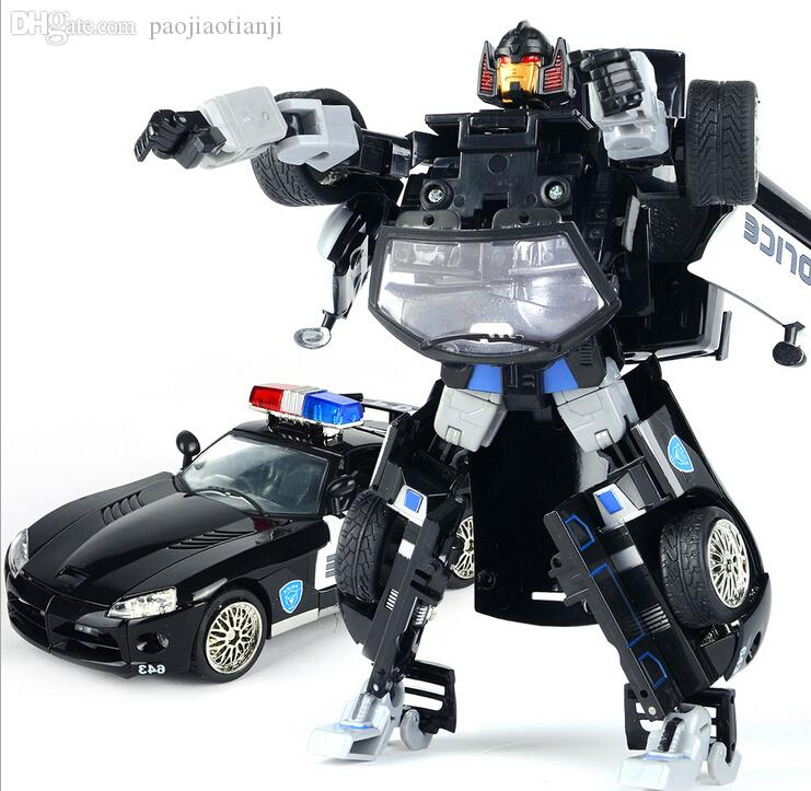 Police Car Toys For Boys : Wholesale transformation cars robots transformable