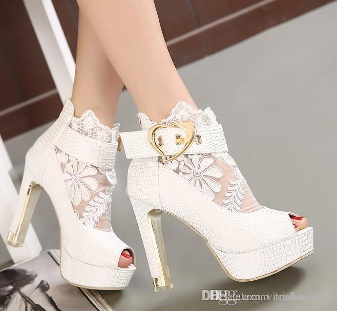 White Evening Shoes
