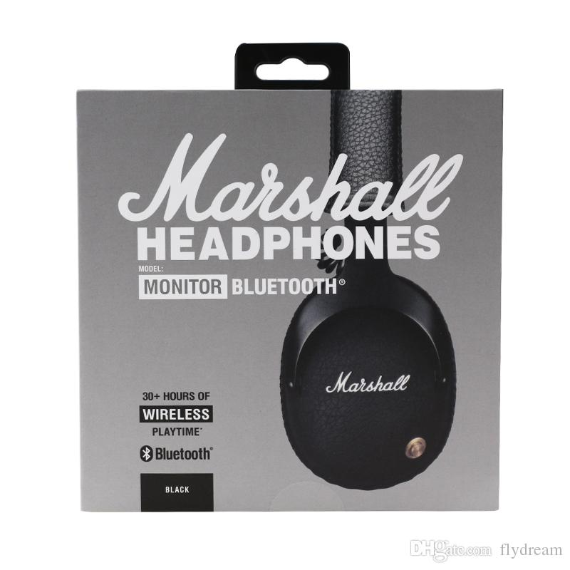 Marshall Monitor Bluetooth Wireless HiFi Headsets audio helmet On Ear Wireless Headphones With Retail Box Hot Selling