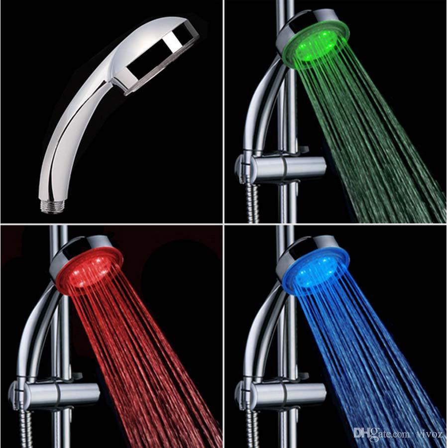 2018 Led Shower Head Faucet Light Change Bathtub Glow Shower Light ...