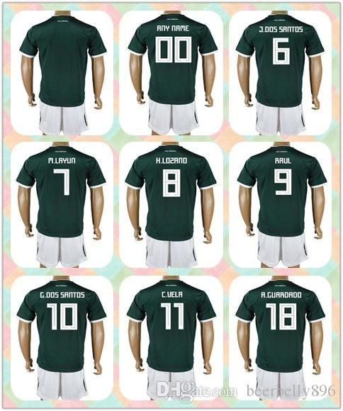 804699df4 ... discount customized uniforms kit 2018 world cup country jersey mexico 4  r. marquez 7 m